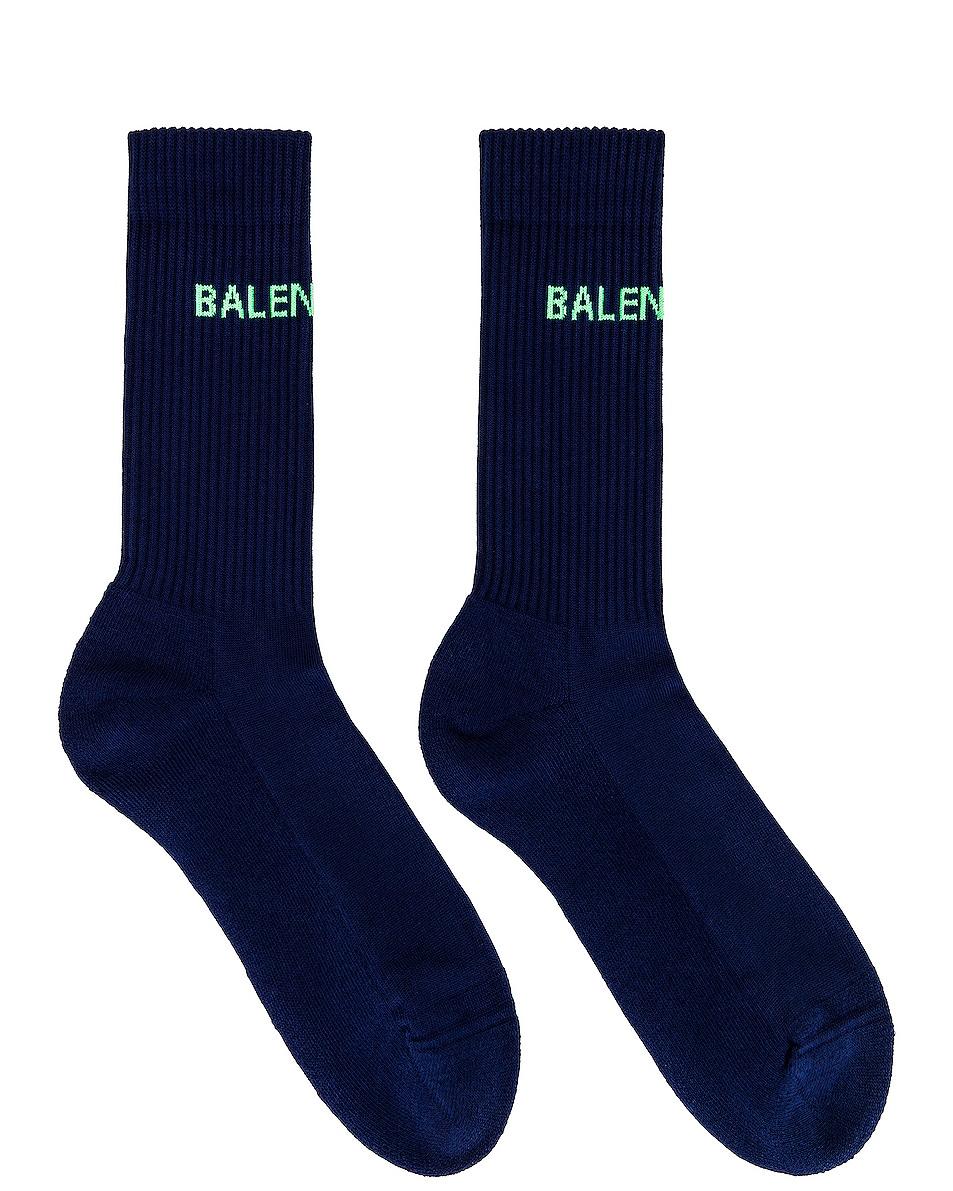 Image 1 of Balenciaga Socks in Blue & Green