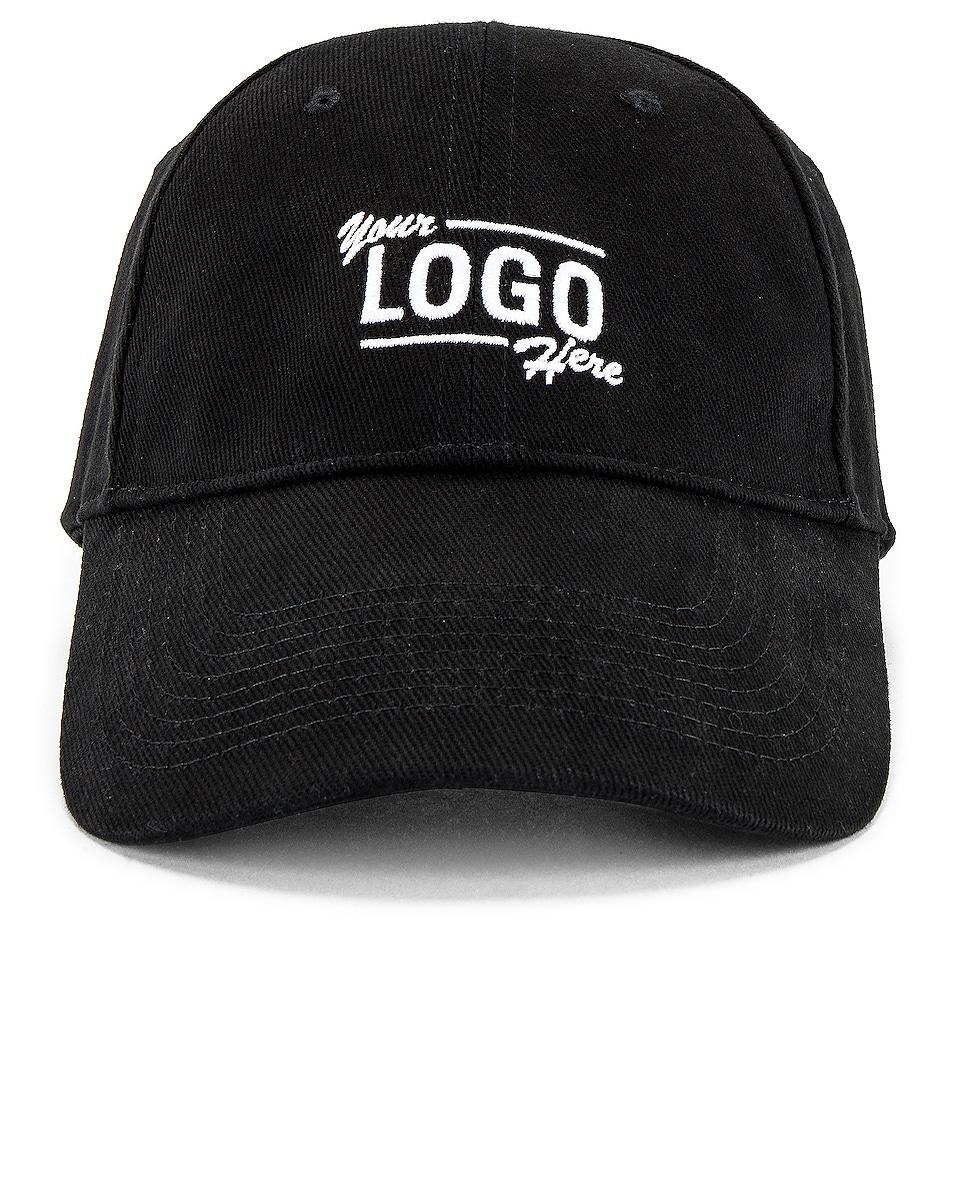 Image 1 of Balenciaga Your Logo Cap in Black