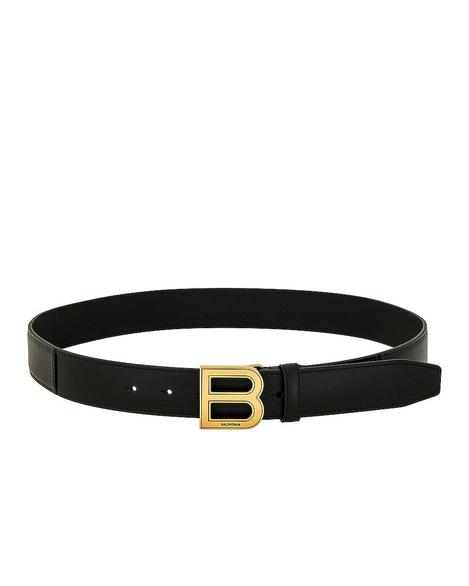 Image 1 of Balenciaga Hourglass Large Belt in Black