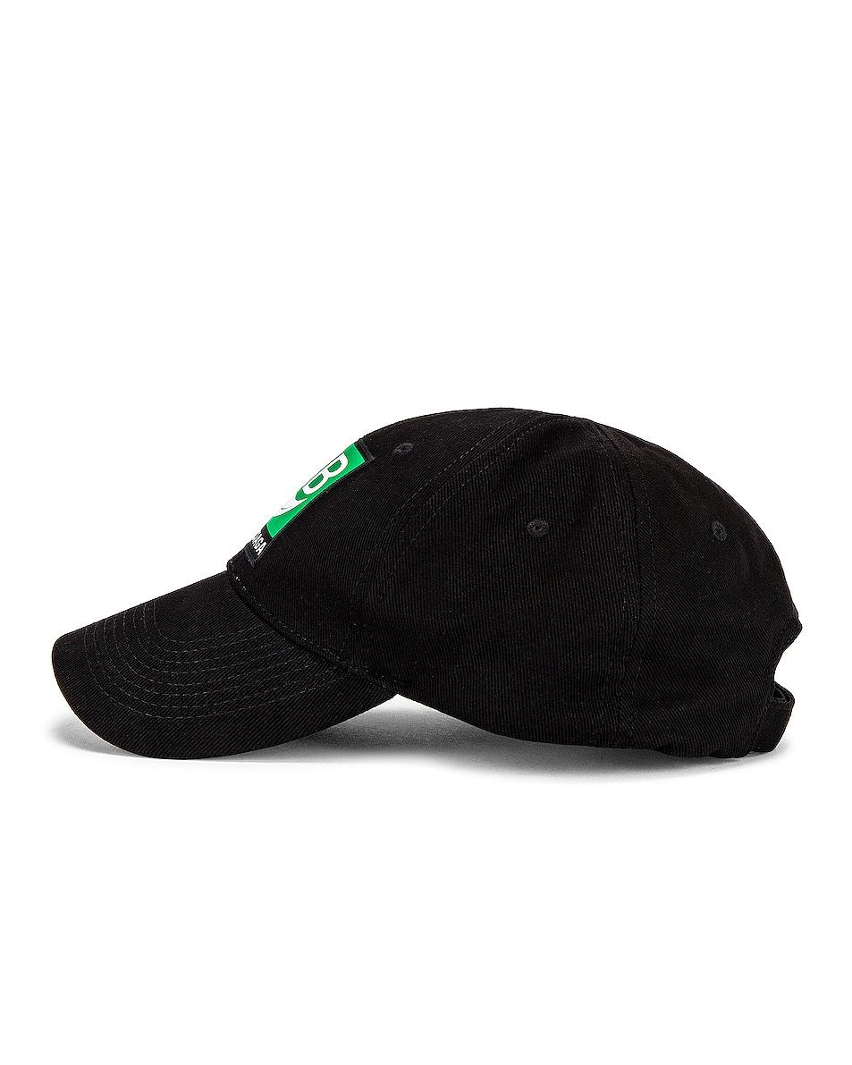 Image 3 of Balenciaga Bal Bio Cap in Black