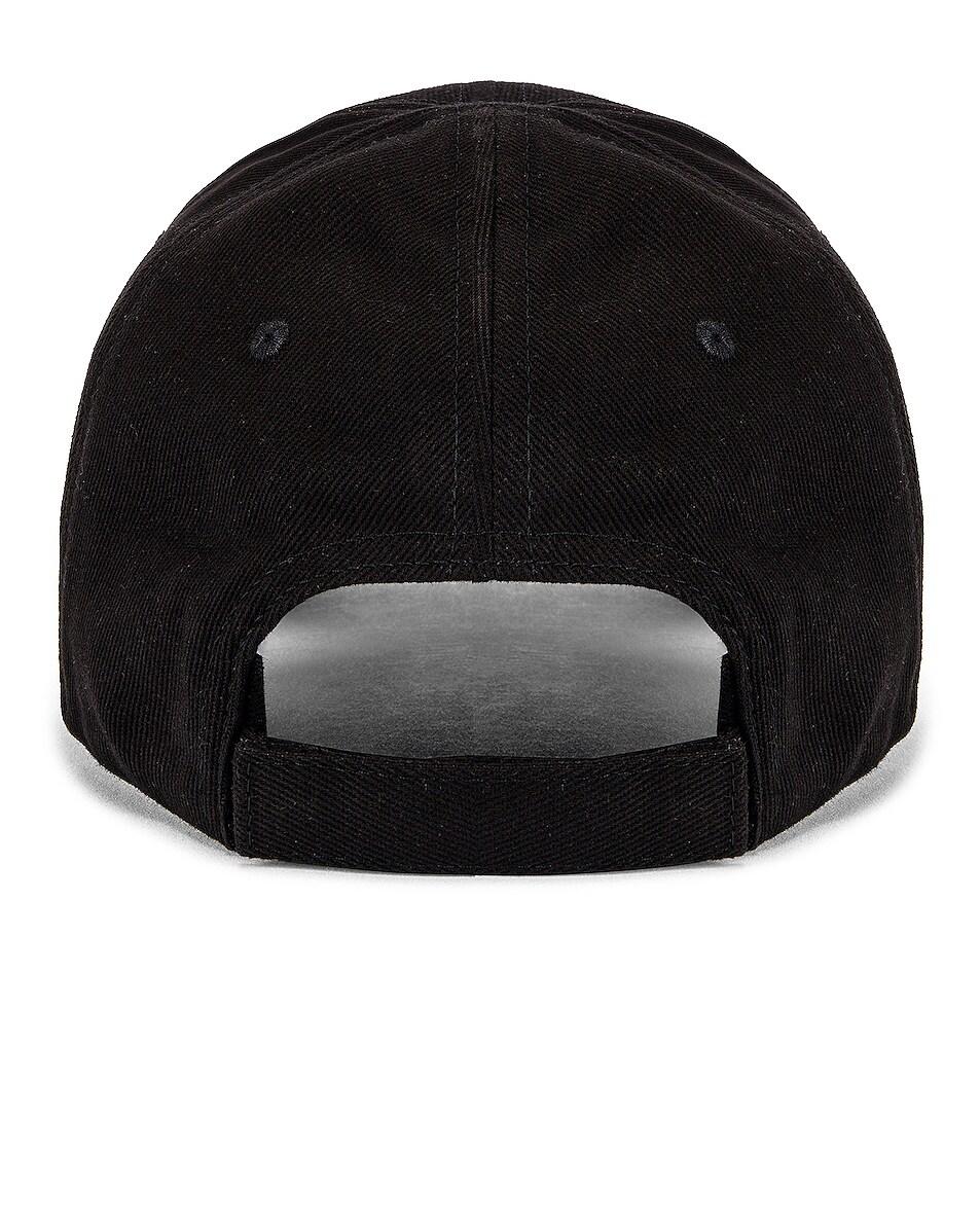 Image 4 of Balenciaga Bal Bio Cap in Black