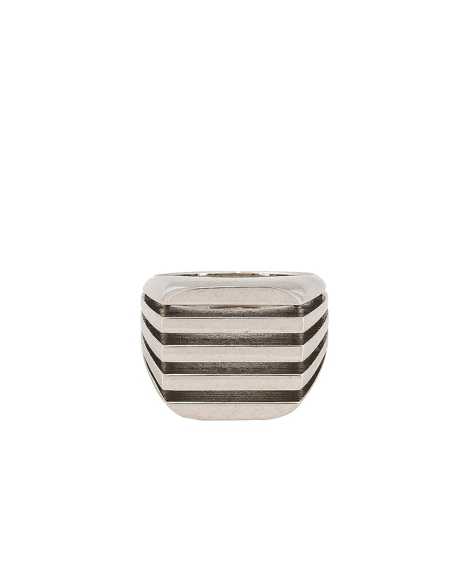 Image 1 of Balenciaga Bone Ring in Silver