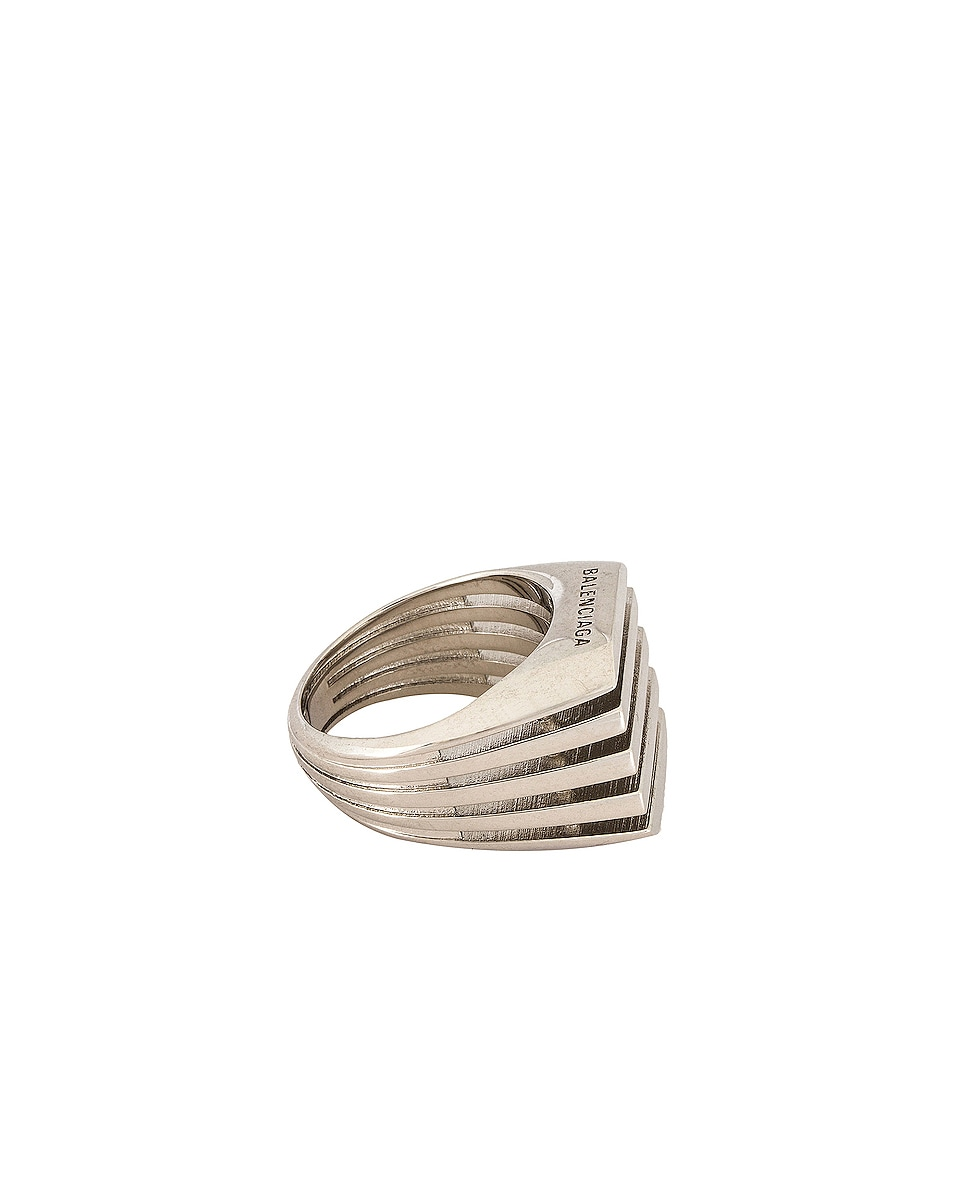 Image 2 of Balenciaga Bone Ring in Silver