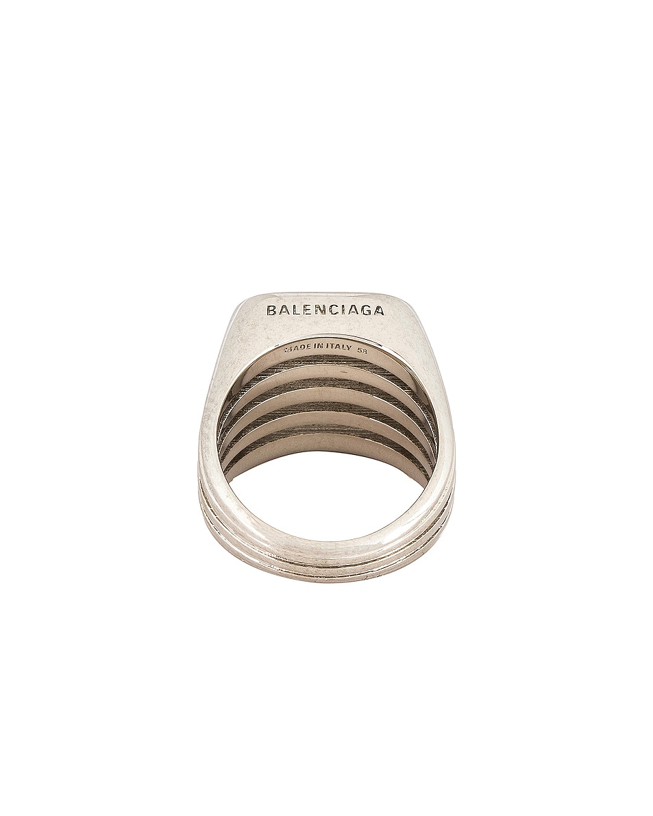 Image 3 of Balenciaga Bone Ring in Silver