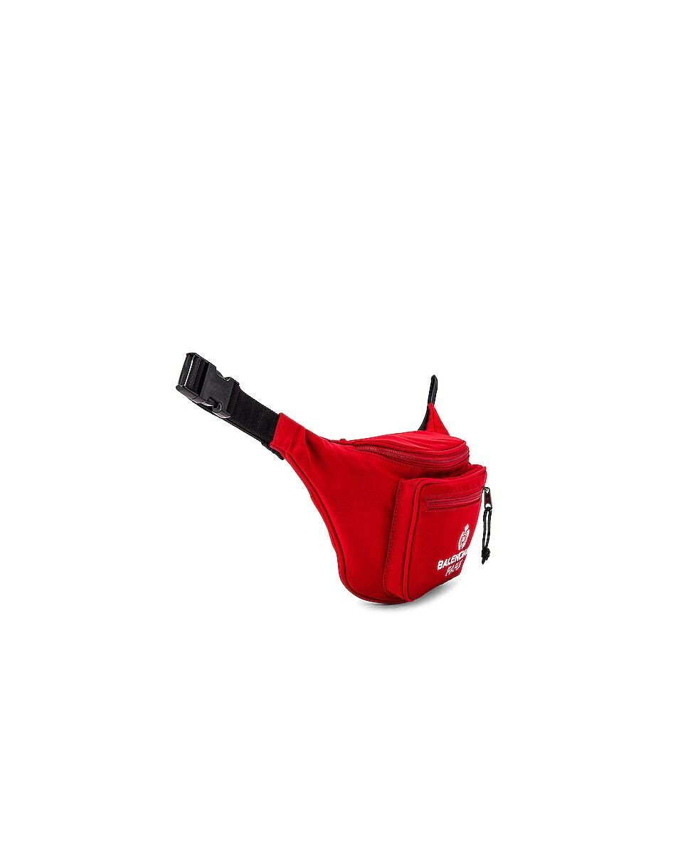 Image 3 of Balenciaga Paris Laurel Explorer Belt Pack in Bright Red