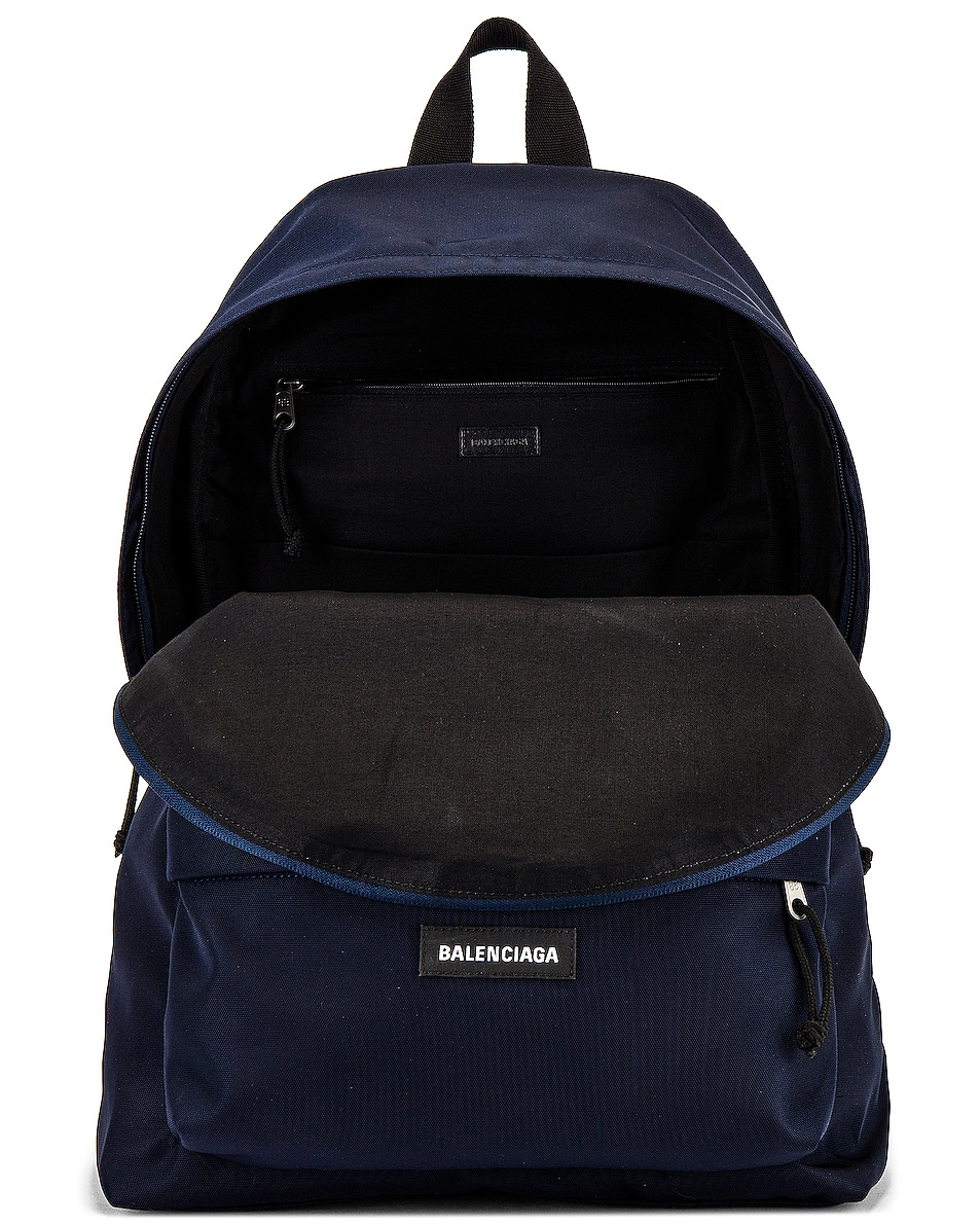 Image 4 of Balenciaga Explorer Backpack in Navy