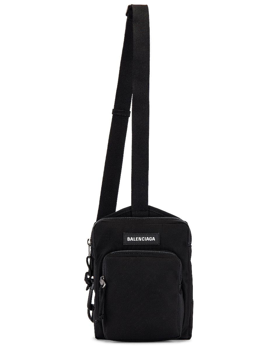 Image 1 of Balenciaga Explorer Crossbody Messenger Bag in Black
