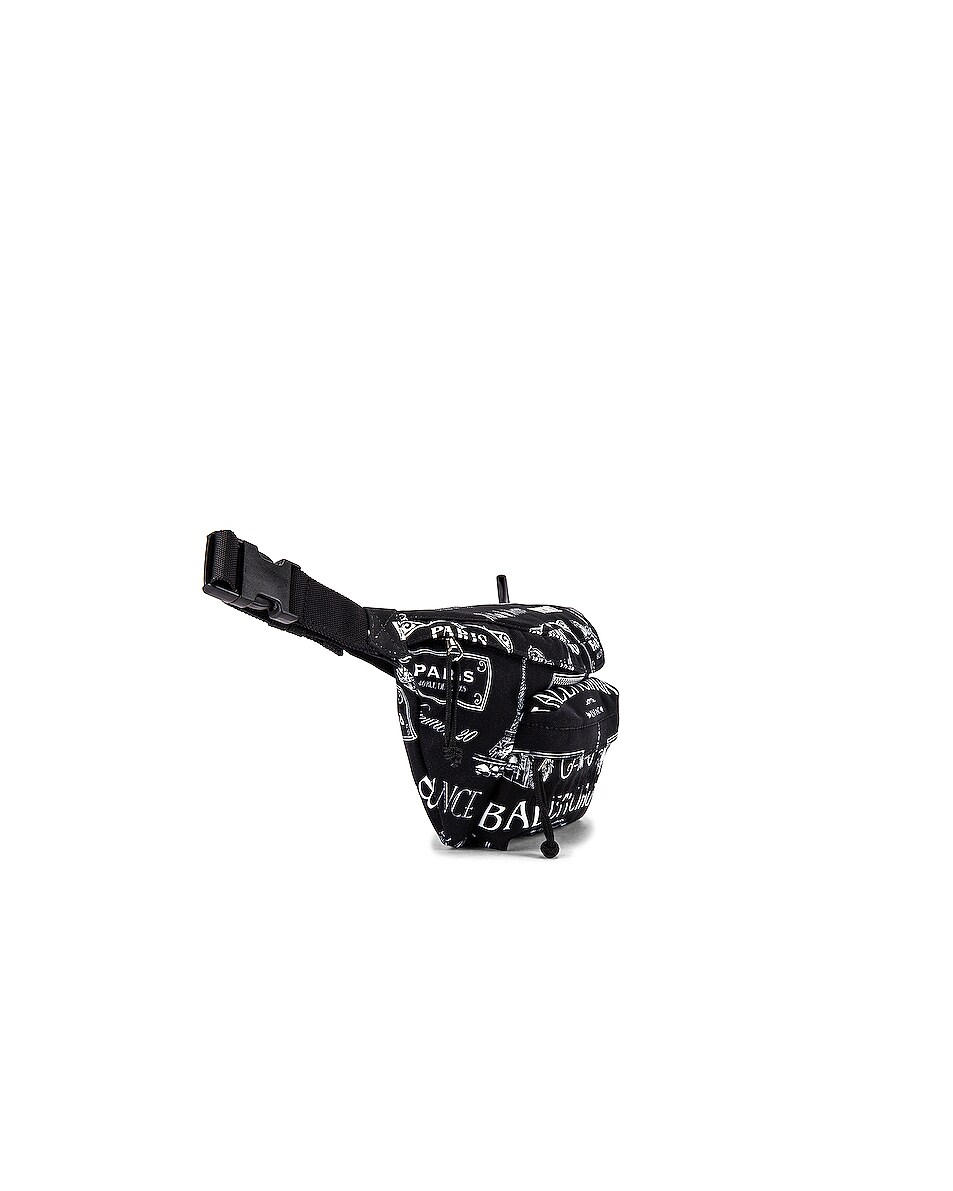 Image 3 of Balenciaga Wheel Belt Pack in Black & White