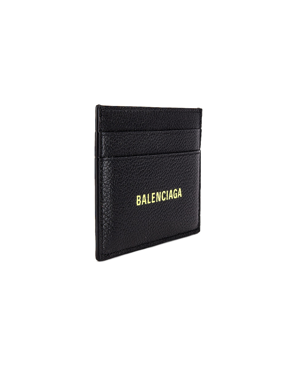 Image 3 of Balenciaga Cash Card Holder in Black & Fluo Yellow