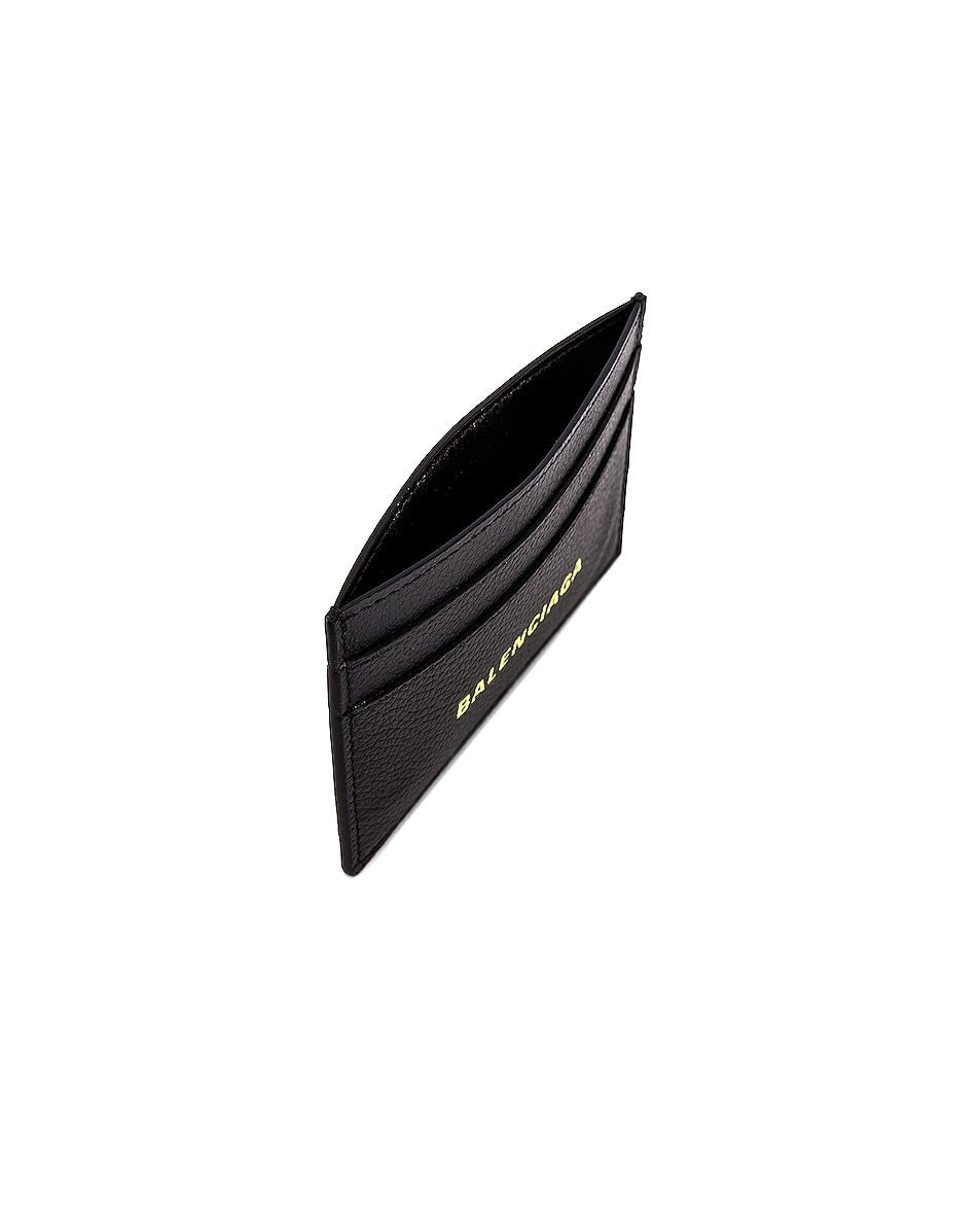 Image 4 of Balenciaga Cash Card Holder in Black & Fluo Yellow