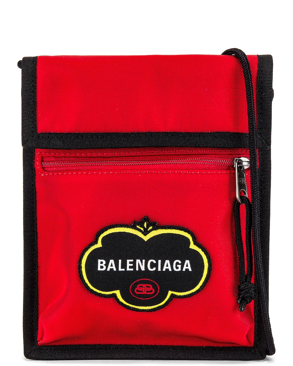 Image 1 of Balenciaga Explorer Pouch Strap in Bright Red