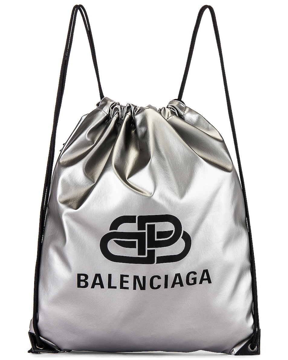 Image 1 of Balenciaga Explorer Drawstring in Silver