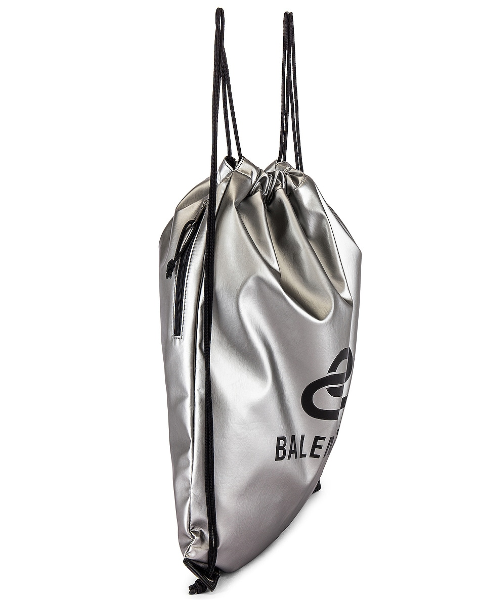 Image 3 of Balenciaga Explorer Drawstring in Silver