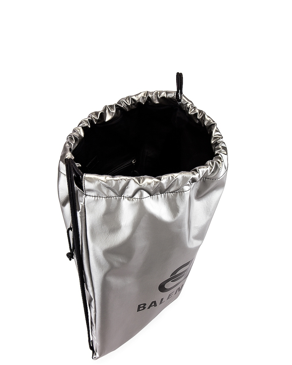Image 4 of Balenciaga Explorer Drawstring in Silver