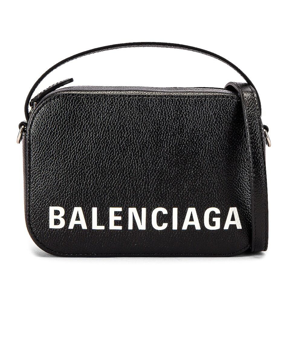 Image 1 of Balenciaga Vile Cam Bag in Black & White