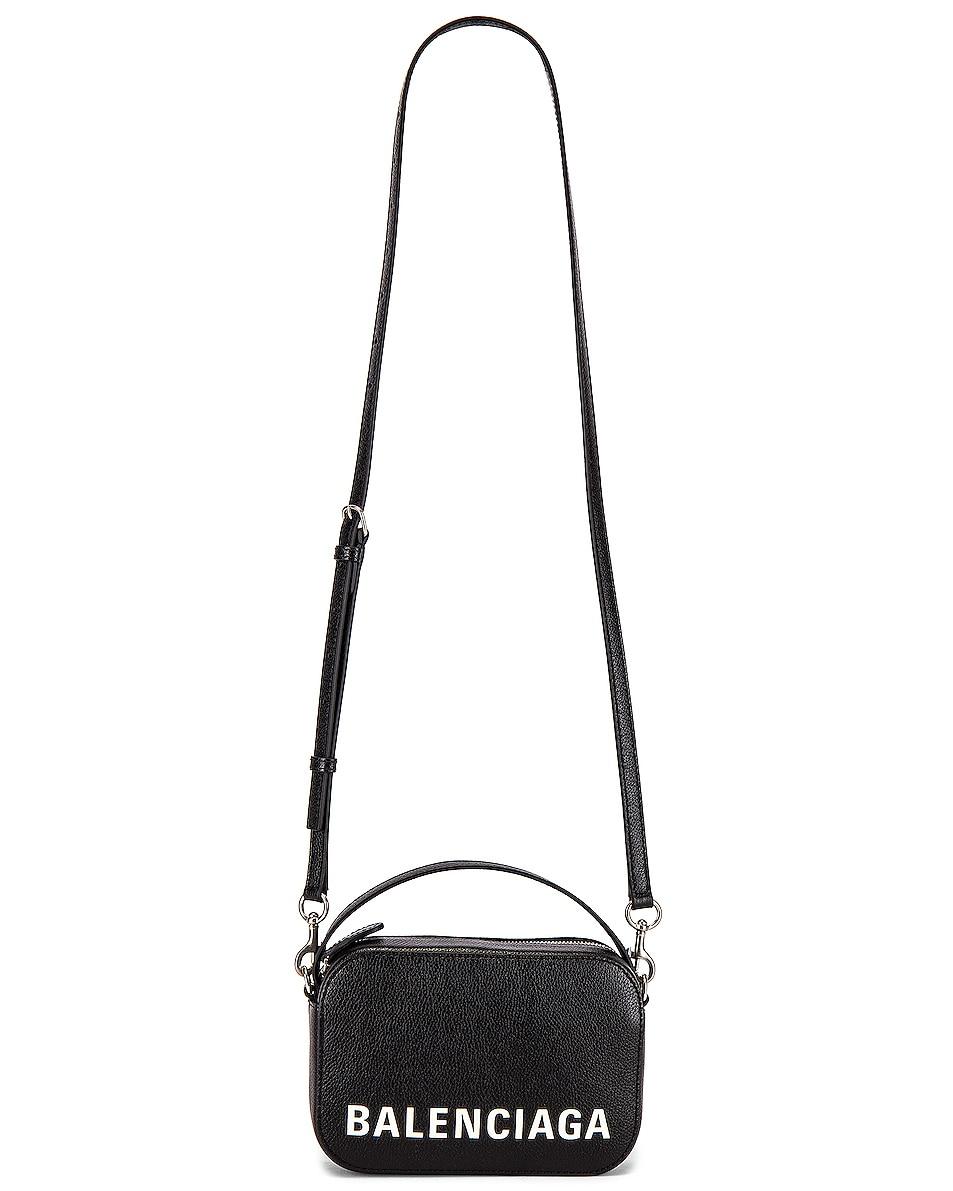 Image 5 of Balenciaga Vile Cam Bag in Black & White