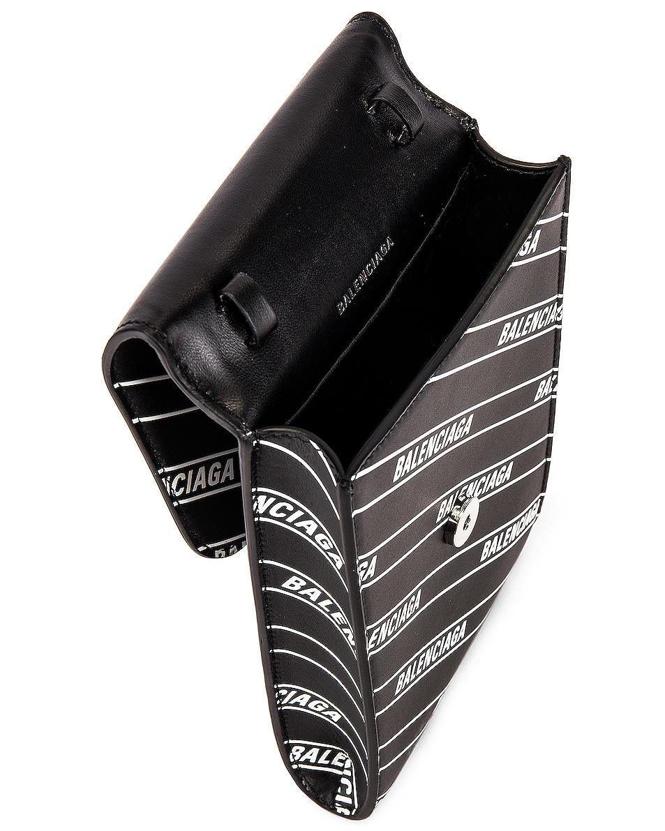 Image 4 of Balenciaga B Phone Holder in Black & White