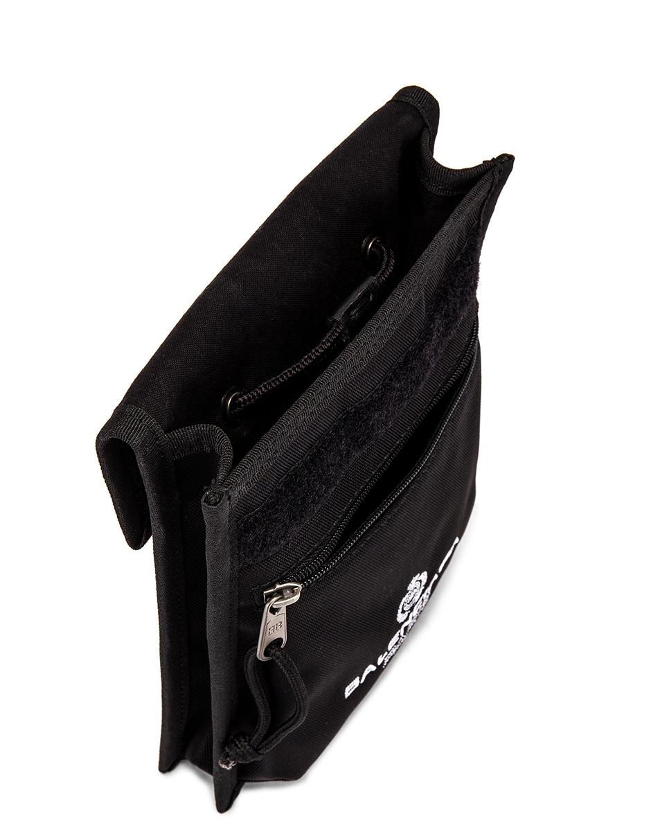 Image 4 of Balenciaga Paris Laurel Explorer Strap Pouch in Black