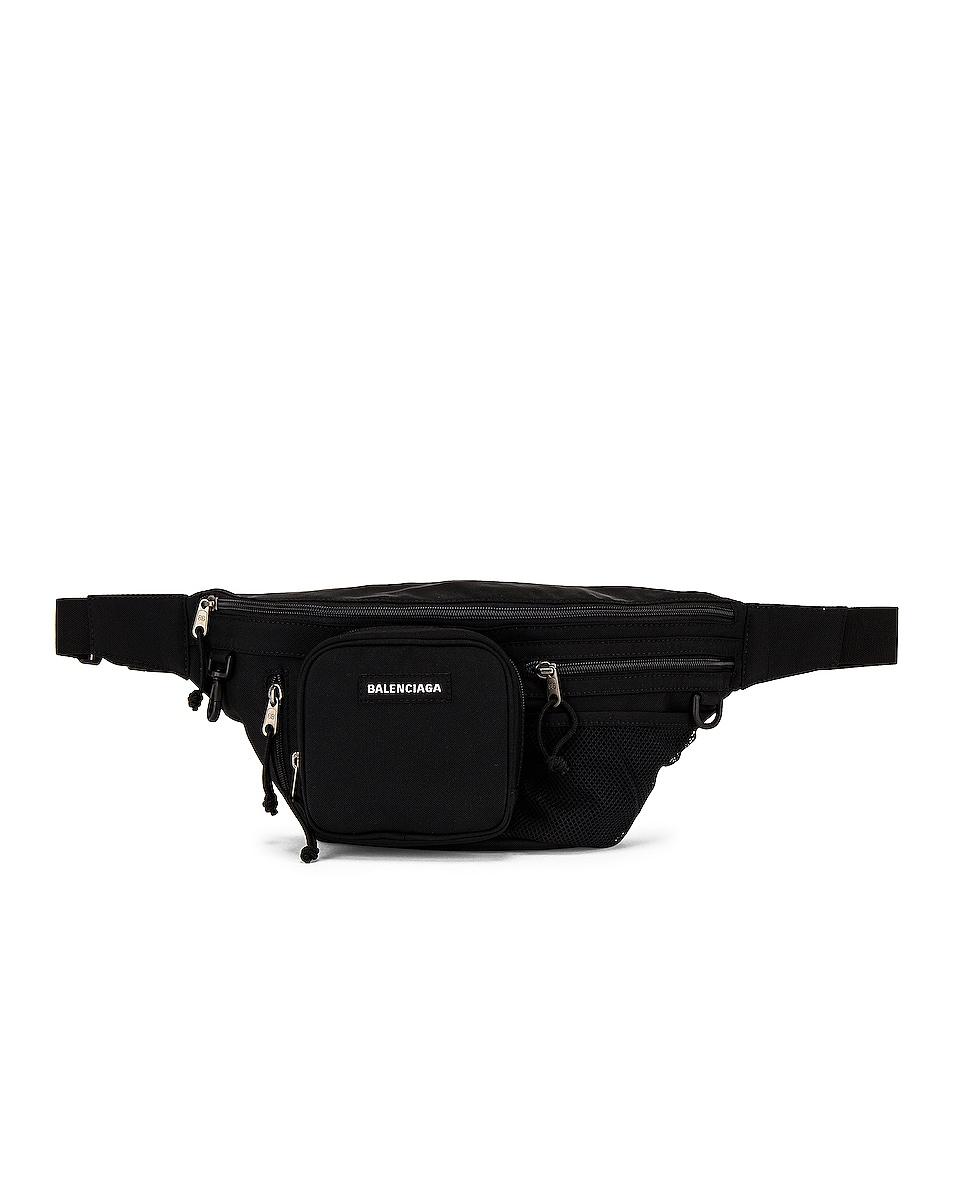 Image 1 of Balenciaga Explorer Multizip Belt Bag in Black
