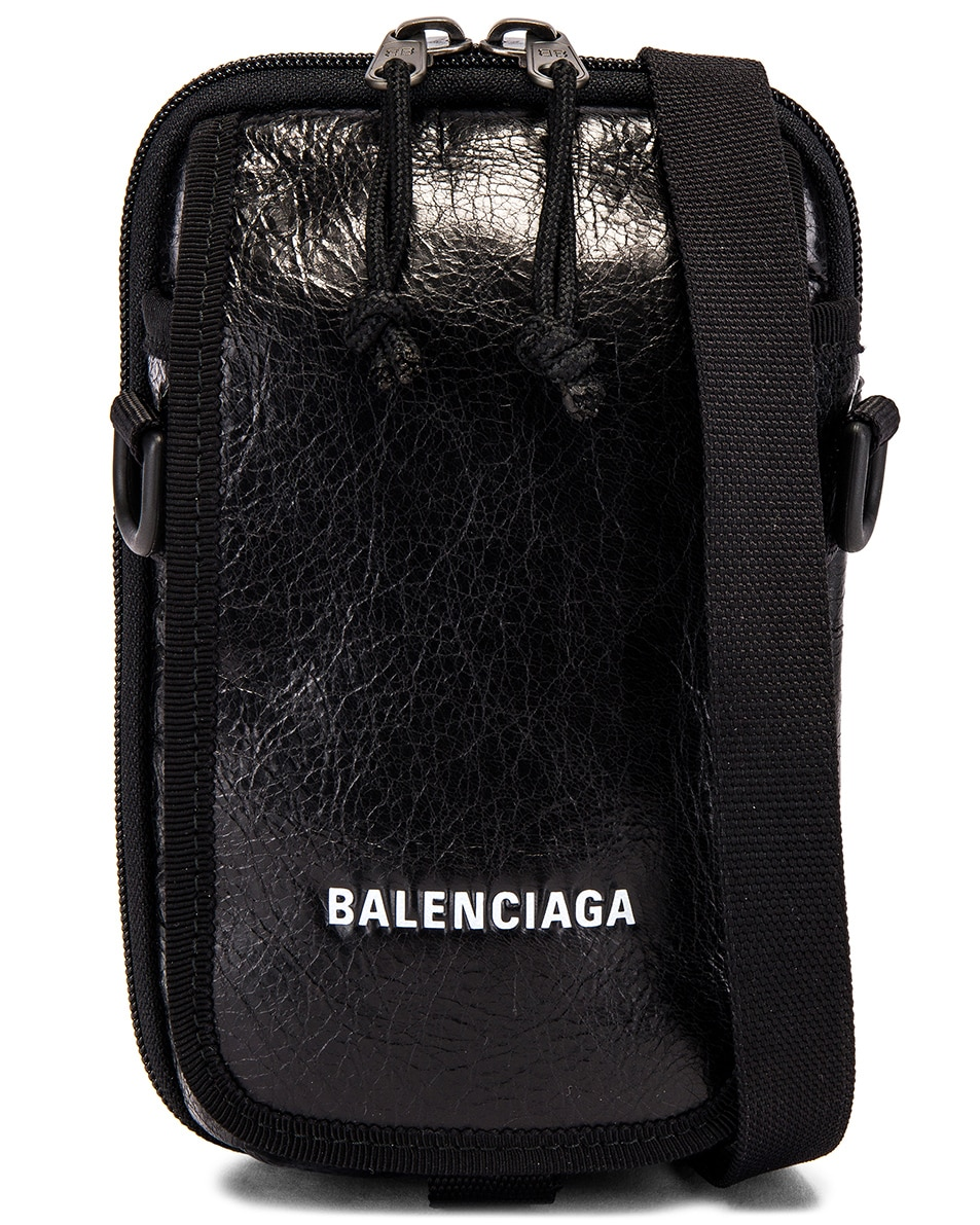 Image 1 of Balenciaga Cross Body Pouch in Black