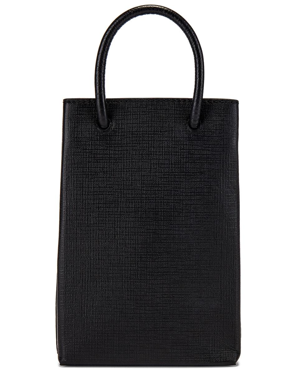 Image 2 of Balenciaga Phone Strap Shopping Bag in Black
