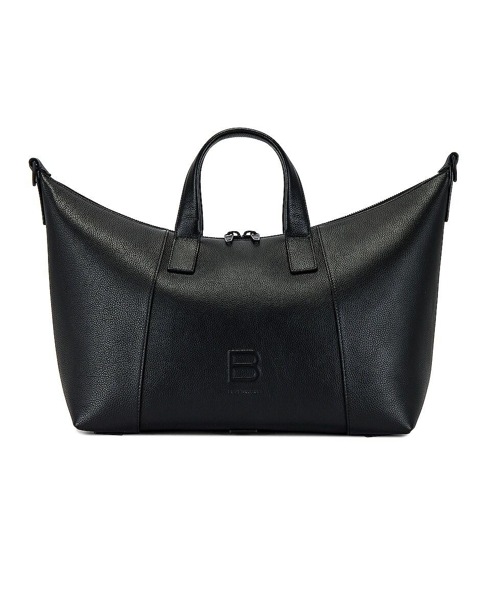 Image 1 of Balenciaga Hourglass Duffel Bag in Black