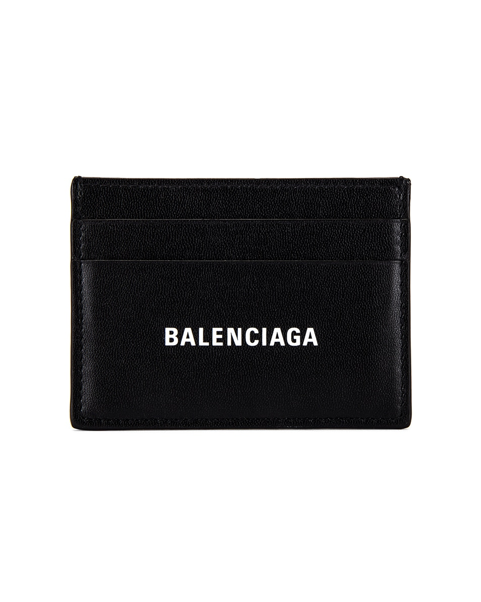 Image 1 of Balenciaga Cash Card Holder in White & Black
