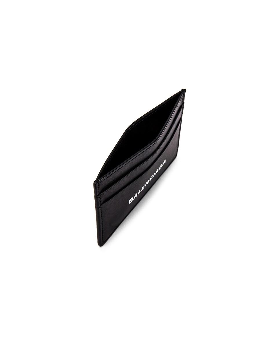 Image 4 of Balenciaga Cash Card Holder in White & Black