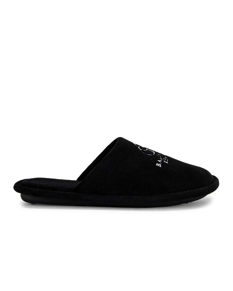 Image 1 of Balenciaga Soft Embroidery Slipper in Black