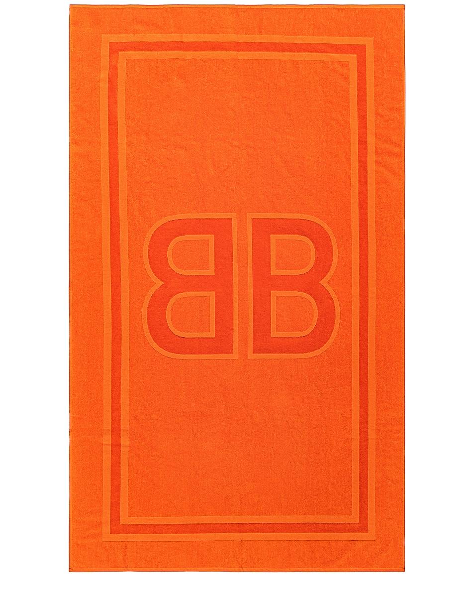 Image 1 of Balenciaga BB Beach Towel in Orange