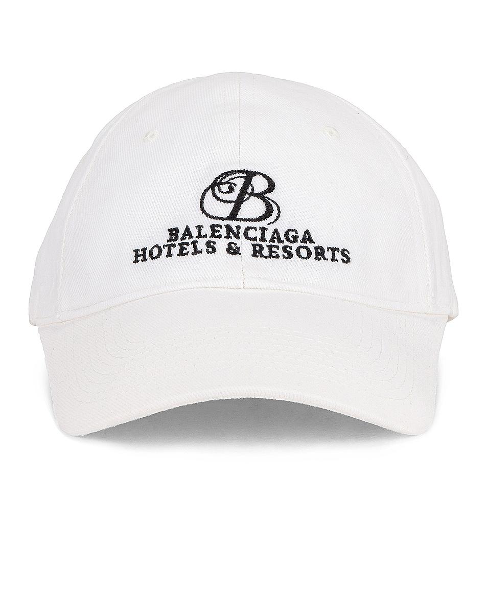 Image 1 of Balenciaga Resort Cap in White & Black