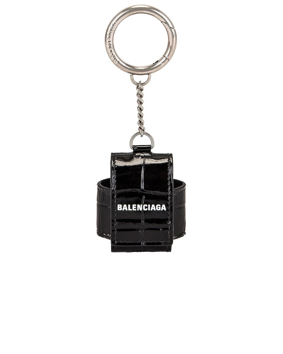 Image 1 of Balenciaga Cash Airpod Holder in Black & White
