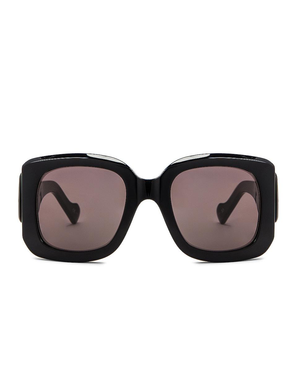 Image 1 of Balenciaga Square Sunglasses in Black