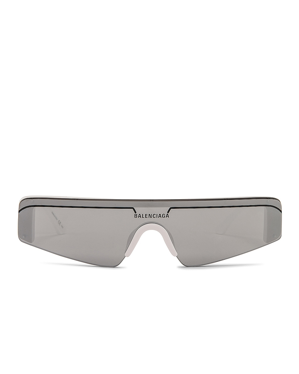 Image 1 of Balenciaga Sunglasses in Shiny Solid White