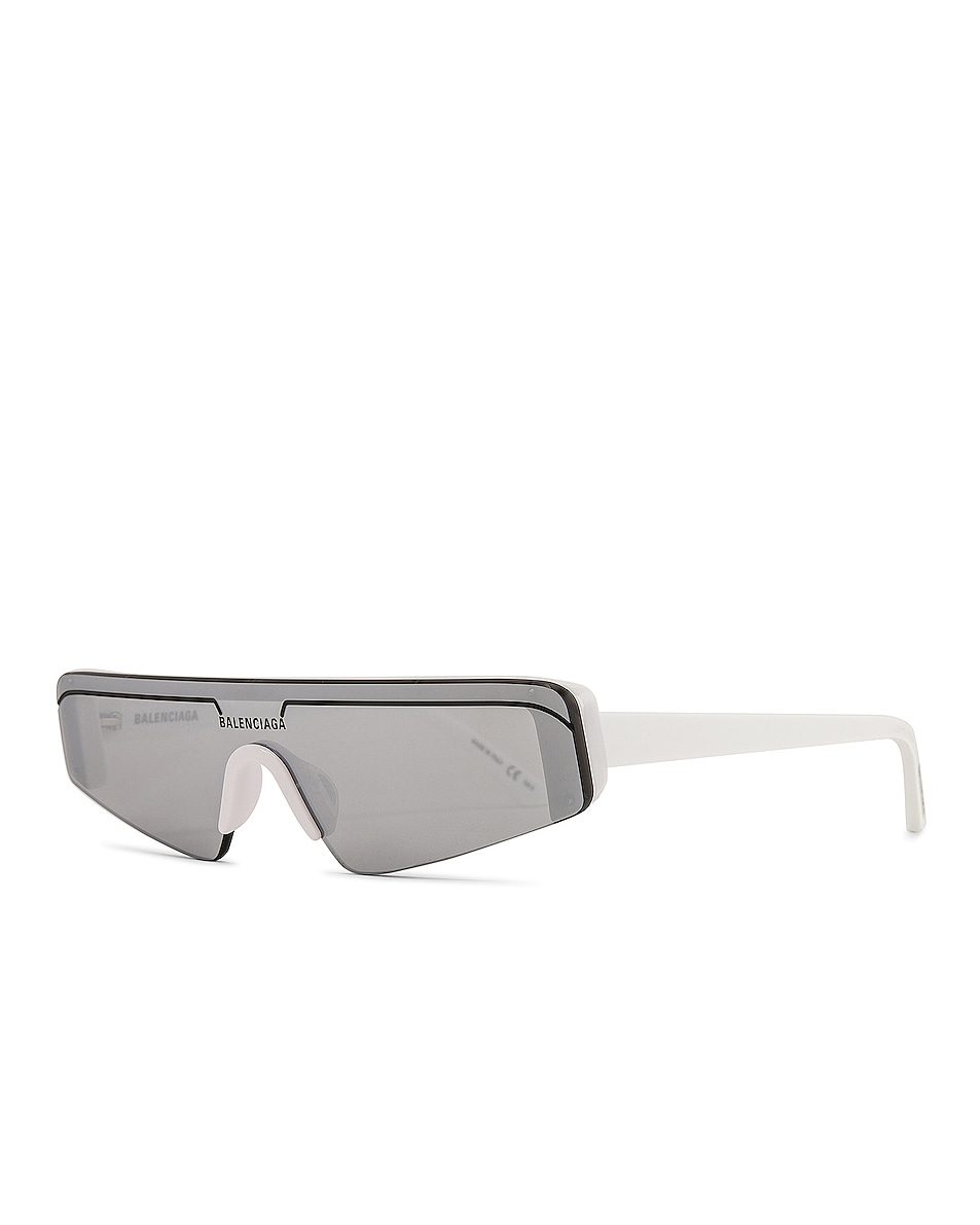 Image 2 of Balenciaga Sunglasses in Shiny Solid White