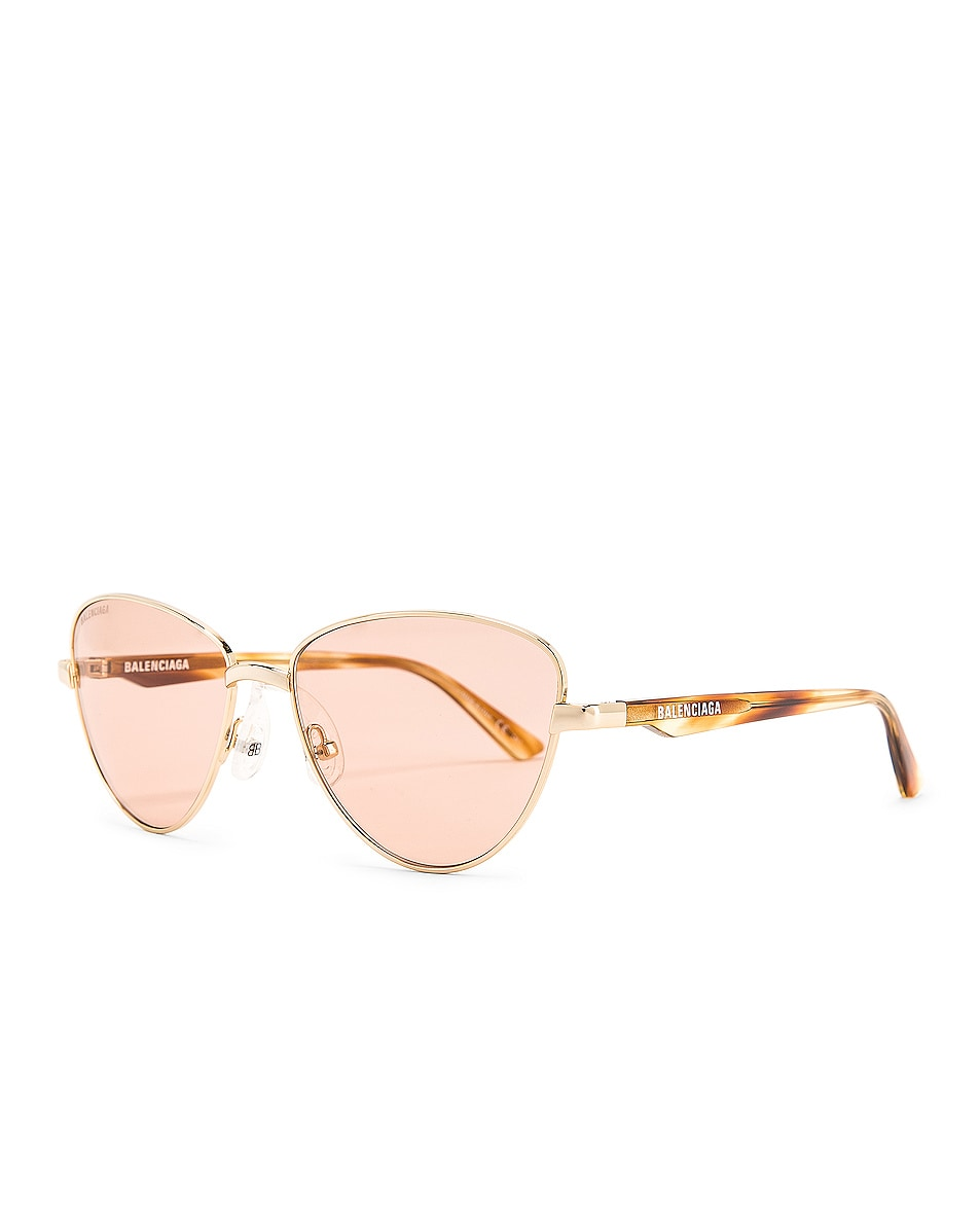 Image 2 of Balenciaga Sunglasses in Shiny Light Gold