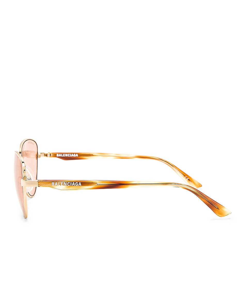 Image 3 of Balenciaga Sunglasses in Shiny Light Gold