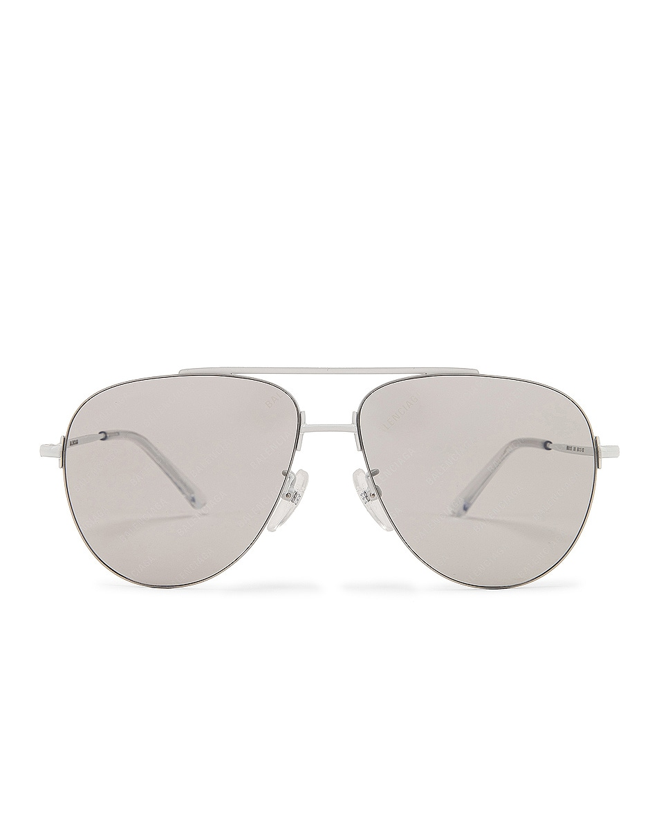 Image 1 of Balenciaga Sunglasses in Shiny Solid Varnished White