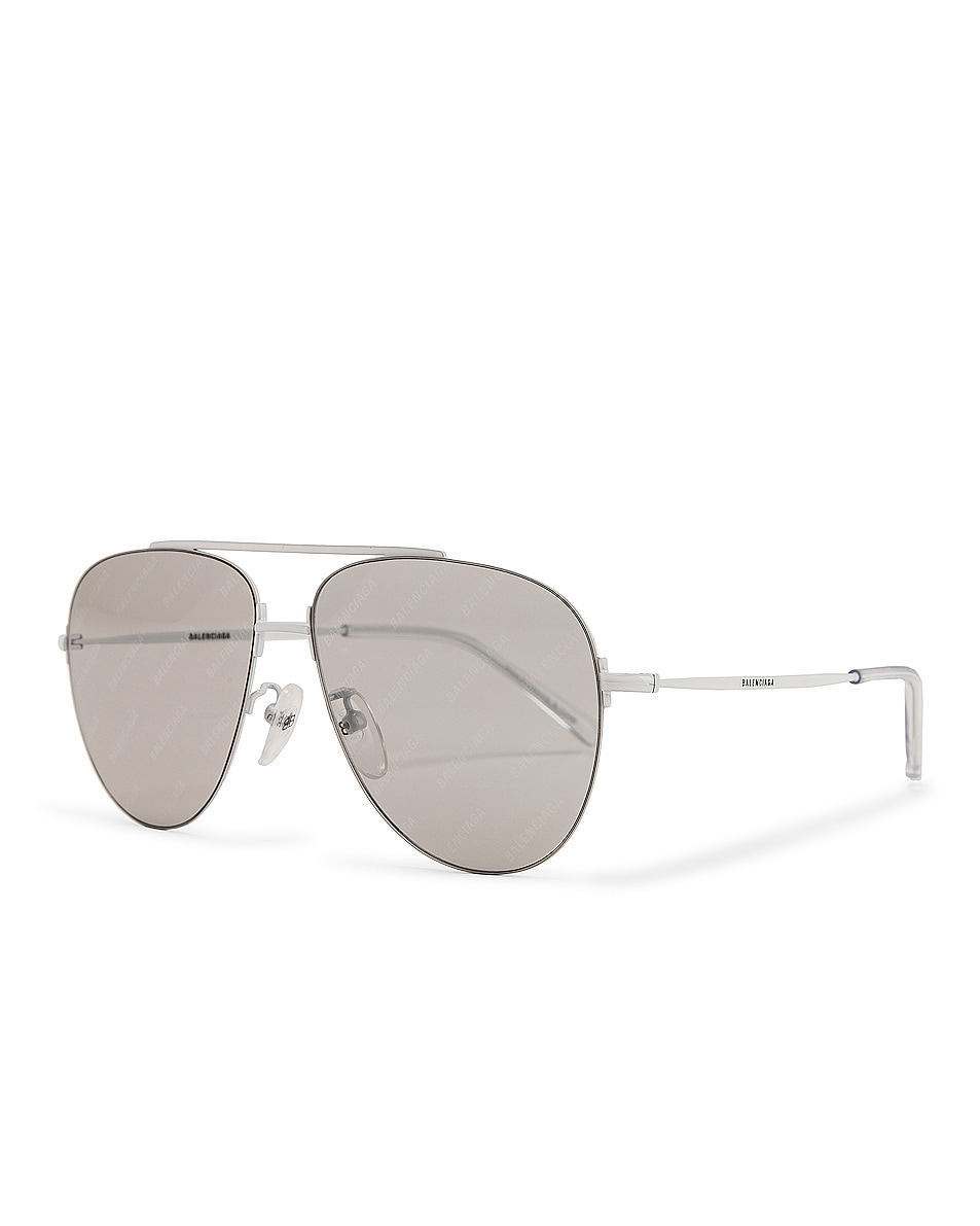 Image 2 of Balenciaga Sunglasses in Shiny Solid Varnished White