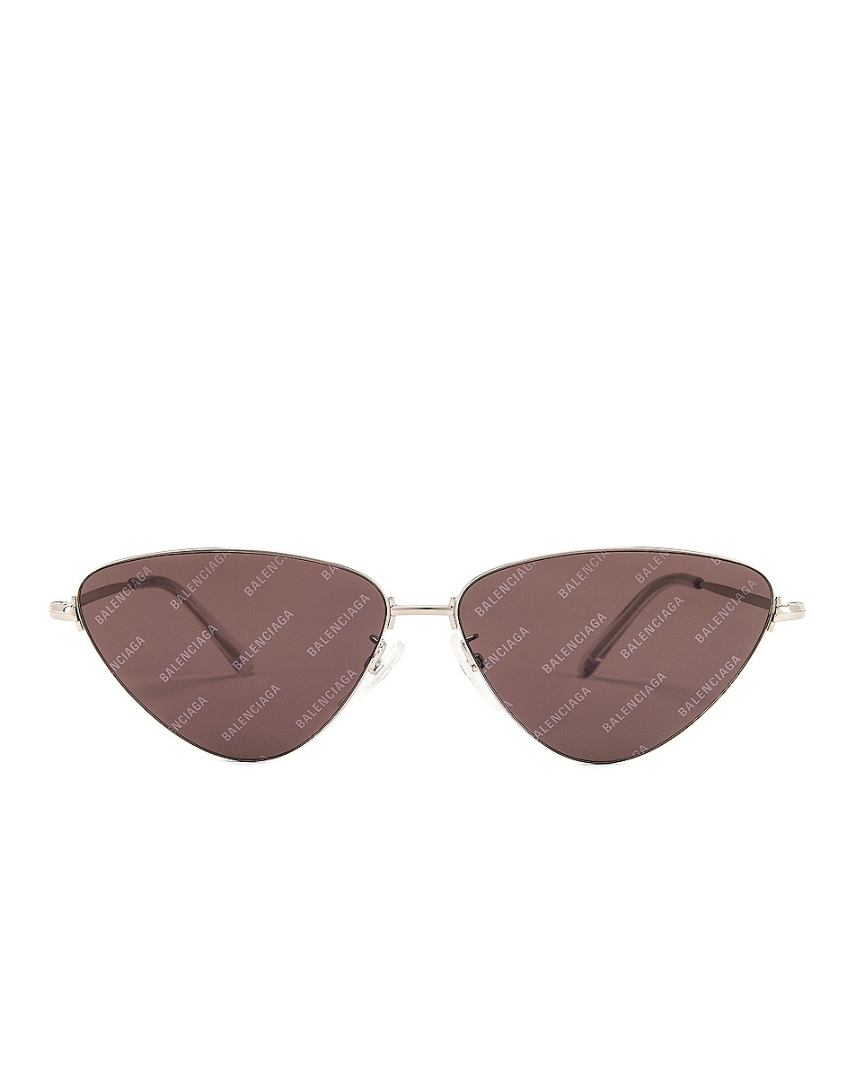 Image 1 of Balenciaga Sunglasses in Shiny Silver