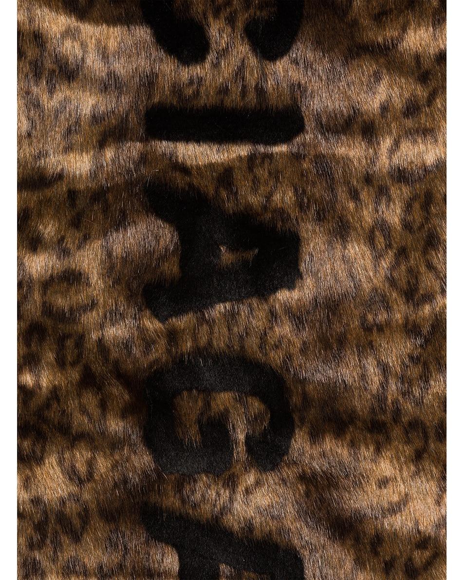 Image 3 of Balenciaga Classic Fake Fur Scarf in Brown