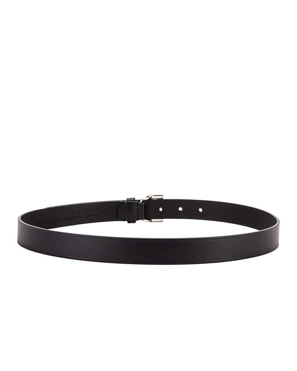 Image 3 of Balenciaga Thin B Belt in Black