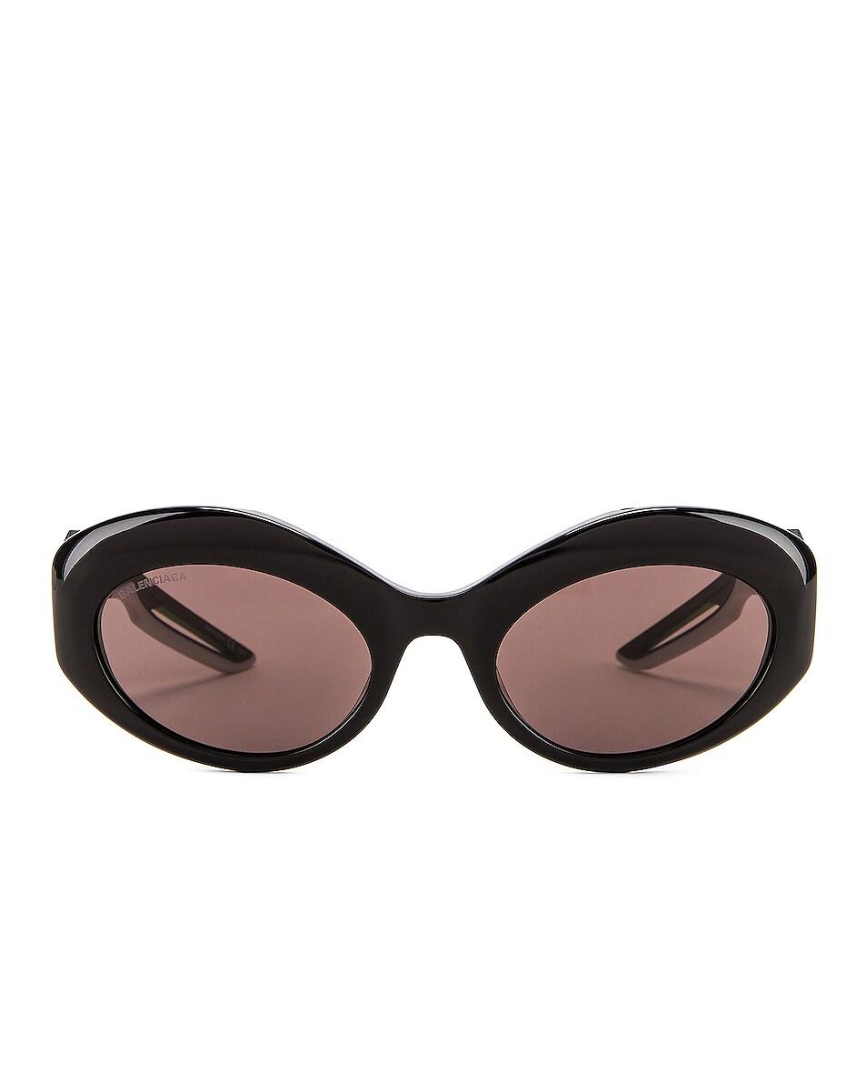 Image 1 of Balenciaga Hybrid Sport Sunglasses in Shiny Black & Grey