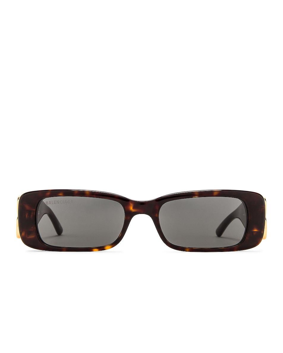 Image 1 of Balenciaga Dynasty Acetate Sunglasses in Havana