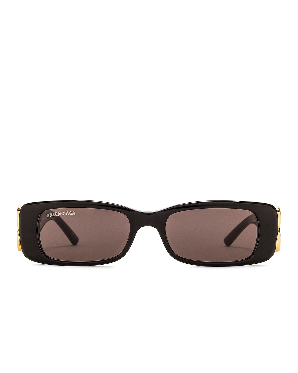 Image 1 of Balenciaga Dynasty Acetate Sunglasses in Black