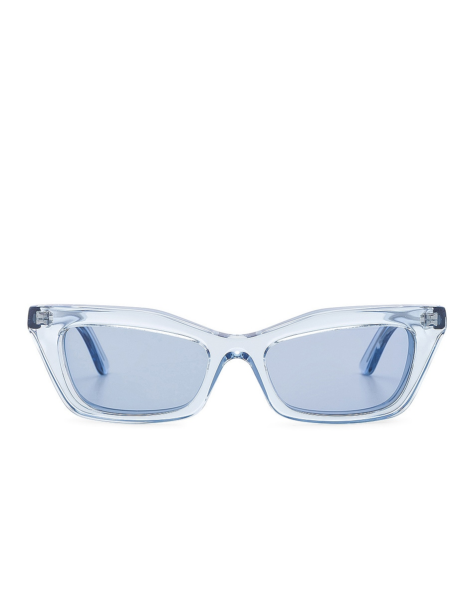 Image 1 of Balenciaga Rectangular Cat Eye Sunglasses in Ice Blue