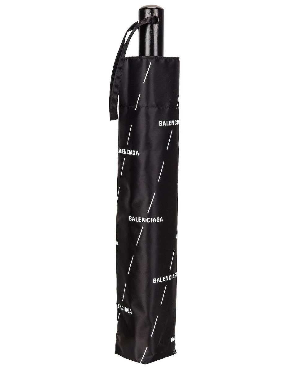 Image 1 of Balenciaga Diagonal Logo Umbrella in Black & White