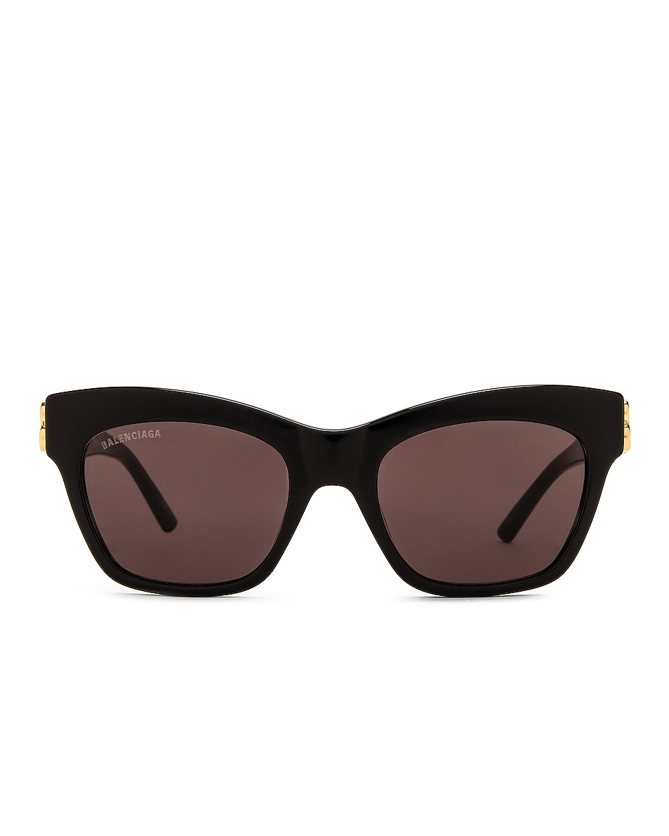 Image 1 of Balenciaga Butterfly BB Logo Sunglasses in Shiny Black