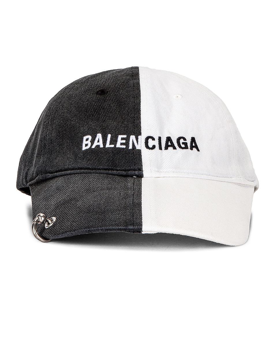 Image 1 of Balenciaga 50/50 Cap in Black & White
