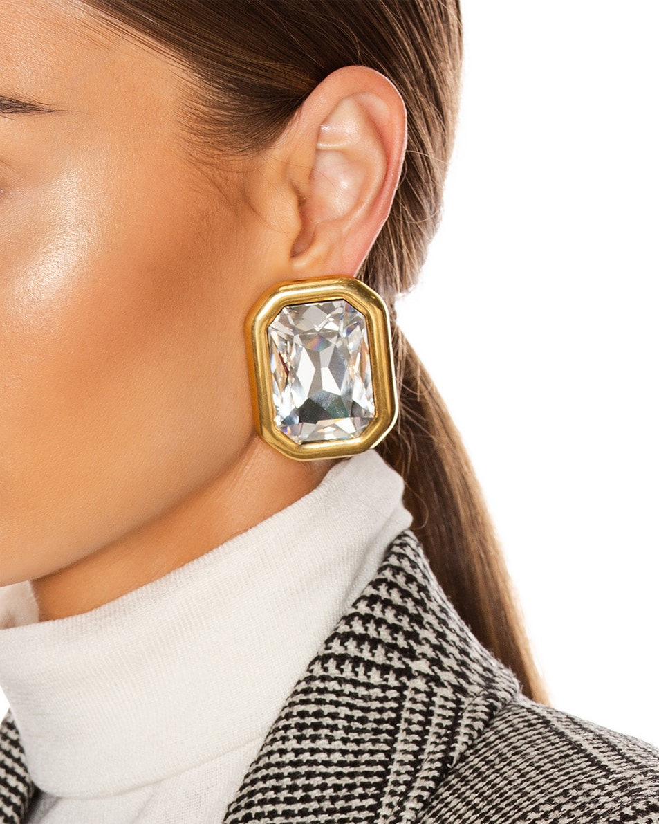 Image 2 of Balenciaga Dallas XL Earrings in Gold